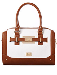 2015 Women High Quality Famous Brand Handbags Ladies Shoulder Retro White Brown Bag  FY0581