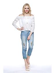 Women's Casual/Sexy Long Sleeve Blouse (Chiffon)