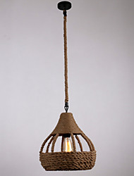 Rope 1 Light Pendant Lights Country