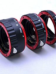 auto rouge métallique accent af tubes d'extension macro / anneau pour Canon EOS 5d 5D2 objectif EF-S