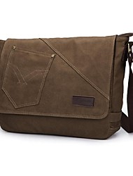 Men 's Canvas Sling Bag Shoulder Bag - Brown/Black