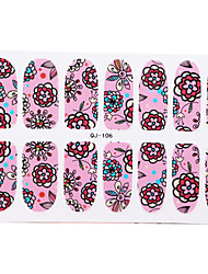 Small Fresh Floral Flowers Nail Stickers