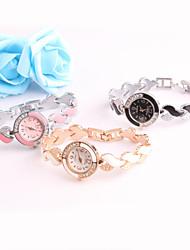 classico d'epoca in metallo quarzo cava orologio da polso analogico delle donne