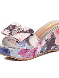 Women's Shoes Wedge Heel Wedges Slippers Casual Pink/White