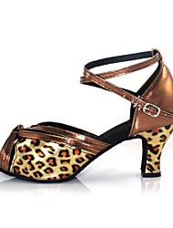 Zapatos de baile (Leopardo) - Salsa - No Personalizable - Tacón Cubano