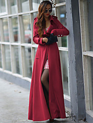 Women's Fashion Casual Long Sleeve Trench Coat