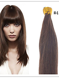 Cheap Stick Hair/I Tip Hair Extension Brazilian Human Virgin Straight Pre-bonded Hair 1G/S 50G/PC 1Pc/Lot In Stock