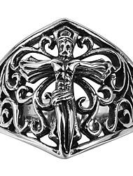 Personality Of Ancient Mayan Cross Jesus Loudiao Ring Pattern Cross Ring Punk Titanium Gift Men