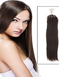"""1pc / lot 20 """"-24"""" 0,7 g / s recta brasileña maraña de pelo micro loop pelo virginal del pelo humano libre para micro trenzas"""
