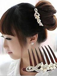 peignes à cheveux diamant mariée de raisin perle peigne inséré la torsion de la Corée du Sud