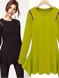 DONNE - Top e blouse - Informale / Feste Rotondo - Maniche lunghe Cotone