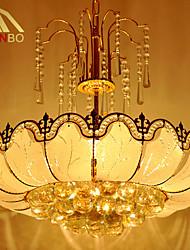 Lustre - Contemporain - avec Cristal/LED - Verre