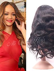 Ali Queen Brazilian Virgin Hair Body WaveHuman Hair Lace Front Wig  For Black Women 130% Density Free Shipping