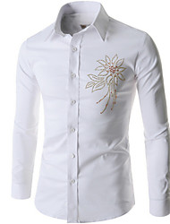 Men's Long Sleeve Shirt , Cotton Casual/Formal