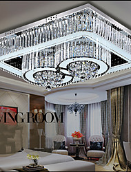 24W Modern/Contemporary LED Glass Flush Mount Living Room / Bedroom / Dining Room / Study Room/Office