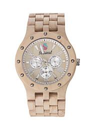 moda relojes de madera del nuevo diseño de la temporada de alta calidad de madera de sándalo reloj de pulsera de cuarzo para los hombres