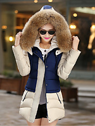 Women's Ruffle Coats & Jackets , Cotton Bodycon/Casual Long Sleeve BLS