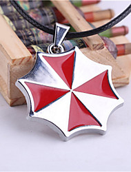 Women's Fashion Jewelry Casual Alloy Cosplay Resident Evil Umbrella Pendant Necklace