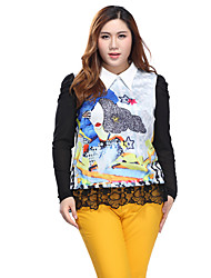 Prettyshow 2015 new autumn style women big size XL-5XL casual slimming  clothes QA3RT0126
