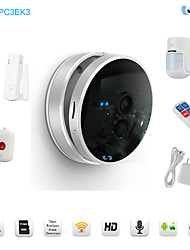 Snov HD Wifi Night Vision IP Baby Monitor Cube IP Camera Business Present With 4pcs Wireless Alarm Sensors, CMS & APP