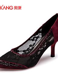 Zapatos de mujer Ante/Tul Tacón Stiletto Tacones/Comfort/Puntiagudos/Punta Cerrada TaconesBoda/Exterior/Oficina y
