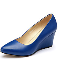 Aokang Women's Shoes Leather Stiletto Heel Heels/Comfort/Pointed Toe/Closed Toe Pumps/HeelsWedding