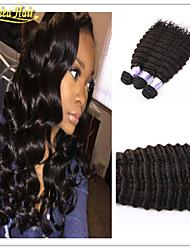 3pcs/Lot Grade 8a virgin brazilian deep wave hair 100g set 3pcs lot hair weft human hair bundles
