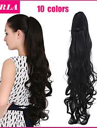 sintética clip de 24 pulgadas de largo y rizado excelente calidad en peluca cola de caballo más de 10 colores disponibles