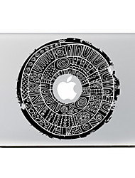 Circular Flower 7 Decorative Skin Sticker for MacBook Air/Pro/Pro with Retina Display