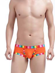 Men's Underwear Cotton Low Waist Pants U Convex Rainbow