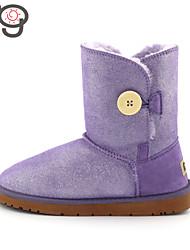 MG Sheepskin Snow Boots Flat Heels Warm Shoes Women Winter Boots Fashion Women Shoes