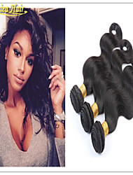 3pcs / lot best-seller brasileiros 3pcs originais onduladas trama cabelo humano onda do corpo brasileiro do cabelo humano virgem tece