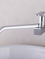 High Quality 360 Rotation Single-Tube Kitchen Tap Faucet Chrome Sink Cold Tap Single Handle Faucet