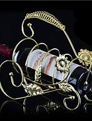 metal vinho garrafa titular rack com decoração girassol bar cozinha suporte de mesa de armazenamento