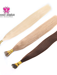 "Stock Nano Bead Hair Extensions 18""-20"" 100g/pk Nano Rings Human Hair Extensions 100% Human Indian Remy Hair"