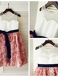 Princess Knee-length Flower Girl Dress - Lace Sleeveless