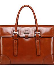 genuina marrón de cuero única maletines de diseño del bolso de negocios individuales bolsos de hombro de la vendimia mensajero originales