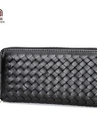 Handcee® Best Seller Good Quality PU Woven Woman Wallet