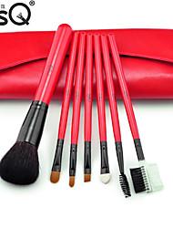 MSQ® 7pcs Makeup Brushes set Goat/Wool hair Powder brush Shadow/Lip/Brow/Lashes Brush Natural Hair Makeup Kit Cosmetic Brushes with Bag