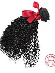 EVET Curly Virgin Hair Bundles Peruvian Human Hair Extension Kinky Curly Hair Weaves Natural Color 1pc 100g/pc