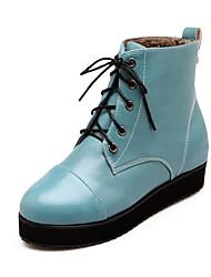 Zapatos de mujer - Plataforma - Plataforma / Punta Redonda / Botas a la Moda - Botas - Vestido - Semicuero -Negro / Azul / Amarillo /