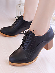 ❤ Once you fall in love ❤ Women's Shoes Chunky Heel Heels Heels Wedding/Outdoor/Office & Career/Casual Black/Brown/White