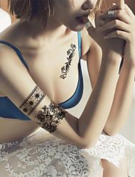 Yimei - Tatuajes Adhesivos - Non Toxic/Waterproof - Otros - Mujer/Adulto/Juventud - Negro - Papel - 5 - 14.5*20CM - RFK15