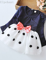 Big Elephant New Baby Girls Clothing Ball Gown Dress Kids Bow Top Outfits Sets for 3-24M D04L Blue