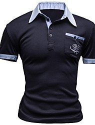 Для мужчин Спорт На каждый день Лето Polo Простое Активный С принтом С короткими рукавами,Другое,Средняя