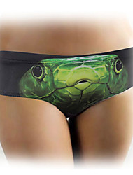 Ms Green Snake Pattern Polyester Material Underwear
