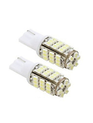 Lorcoo™ 2PCS 42SMD T10 12V LED Replacement Light Bulbs + STICKER 921 912 906(White)