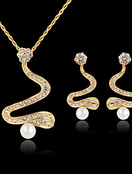 May Polly  Fashion pearl necklace earrings set