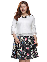 Prettyshow 2015 autumn new arrvial lady big size XL-5XL O-neck slimming casual clothes QA3RT0323