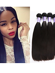 "3pcs/lot 8""-34""Unprocessed Malaysian Hair Human Hair Weave Straight Hair Human Hair Weft Mink Hair Extension"